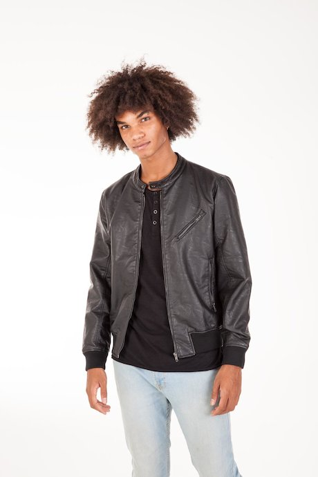 Faux Leather Jacket Genw
