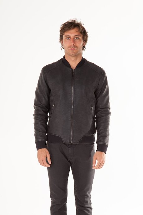 Faux Leather Bomber Ravy