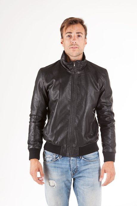 Faux Leather Bomber Wham
