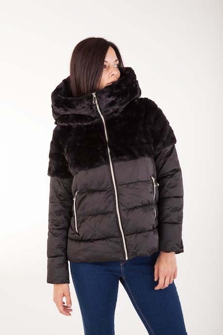 Down Jacket Faux Fur Inserts