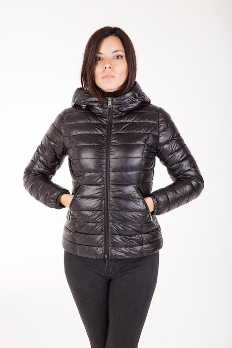 Basic Down Jacket with Hood