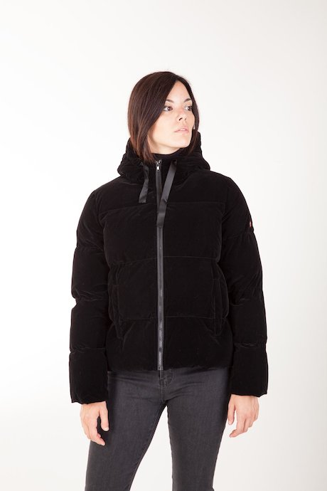 Short Down Jacket with Hood