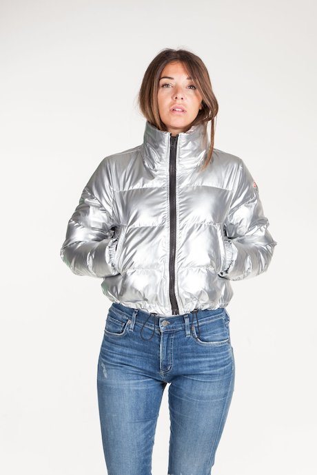 Oversize Bomber metallic fabric