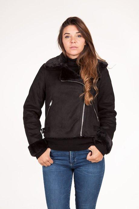 Biker jacket shirling effect