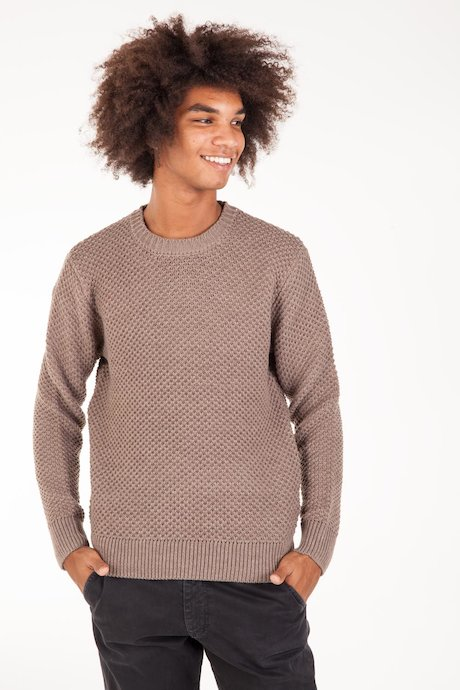 Round Collar Sweater Wool Melange