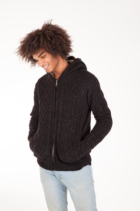 Sherpa Sweater with Hood
