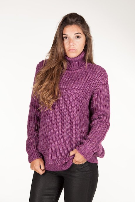 Turtleneck mouliné yarn