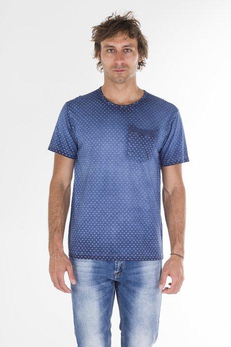 T-Shirt con Microstampa