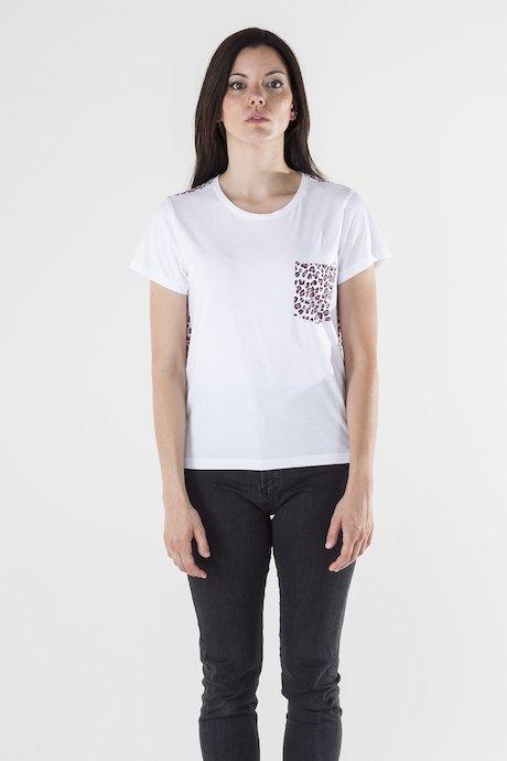 T-shirt Animalier con Taschino