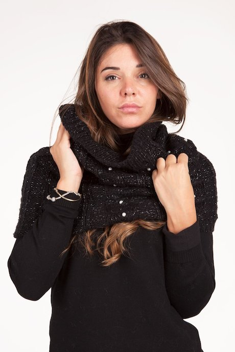 Neck Warmer with Pearl Beads