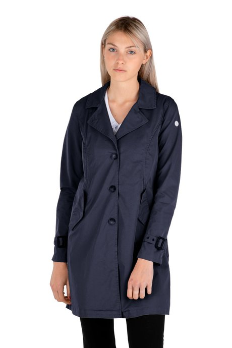 Cotton single breasted trench