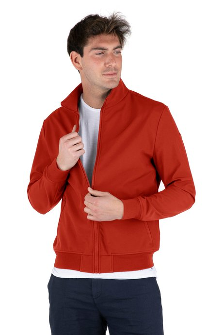 Jacket with technical fabric inserts