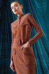 Chiara Boni USA - Hanife Printed Dress - Harris Tweed Caramel - Chiara Boni USA