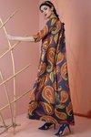 Chiara Boni USA - Kelis Dress - Paisley Blue - Chiara Boni USA