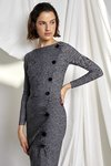 Chiara Boni USA - SAMARA DRESS - Lady Balmoral Grey - Chiara Boni USA