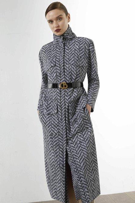 Heves Printed Coat