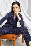 Chiara Boni USA - PRINTED FEDORA JACKET - Bonnie Navy - Chiara Boni USA