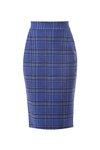 Chiara Boni USA - Lumi Printed Skirt - Madras Blue - Chiara Boni USA