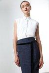 Chiara Boni USA - Sakura Printed Skirt - Glen Plaid - Chiara Boni USA