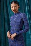 Chiara Boni USA - Lupis Printed Top - Madras Blue - Chiara Boni USA