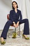 Chiara Boni - PRINTED VENUSETTE PANTS - Art Deco Diamonds Blue - Chiara Boni