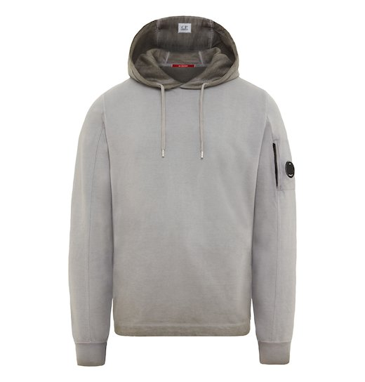 RE-COLOUR LIGHT FLEECE LENS HOODED SWEATSHIRT