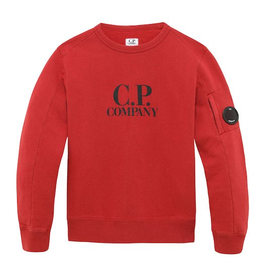 Under16 Cotton Fleece Lens Logo Crew Sweatshirt 10-14 Yrs