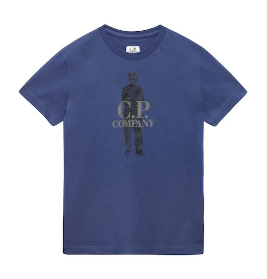 Under16 Cotton Jersey C.P. Sailor Print SS T Shirt 10-14 Yrs