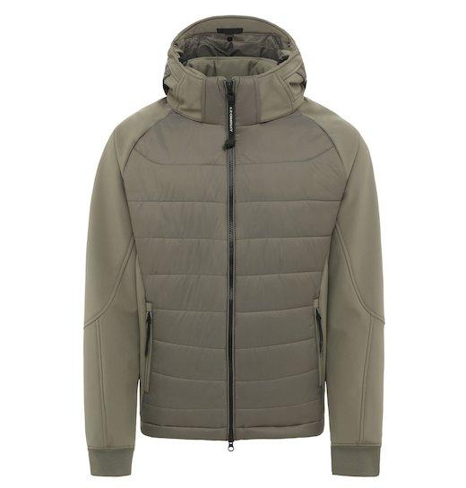 C.P. Soft Shell Mixed Goggle Full Zip Short Jacket