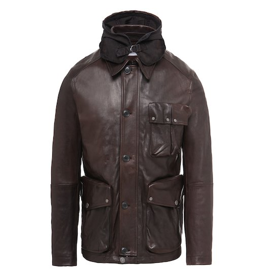 Premium Leather Goggle Mille Field Jacket
