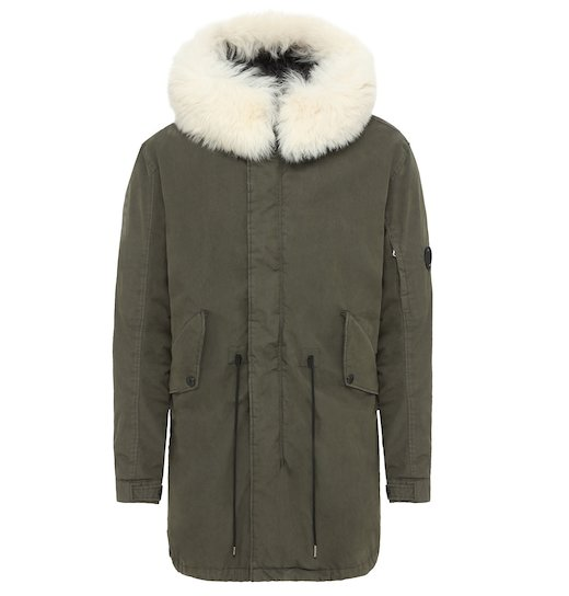 50 Fili Rubber GD Lens Fur Fishtail Parka Long Jacket