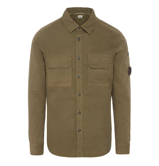 Cotton Gabardine GD Lens Field Shirt Jacket