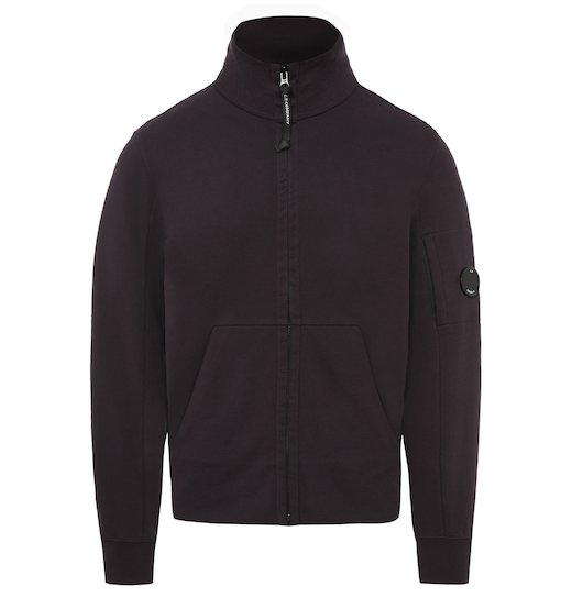 Diagonal Raised Fleece Lens Full Zip Sweatshirt