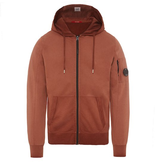 Re-Colour Lens Light Fleece Full Zip Hooded Sweatshirt