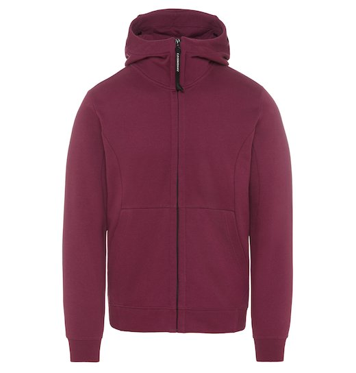 Diagonal Raised Fleece Goggle Full Zip Sweatshirt