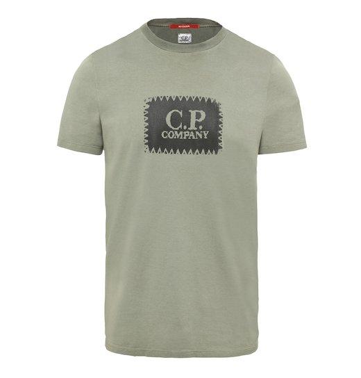 Re-Colour Cotton Jersey C.P. Label Print SS T Shirt