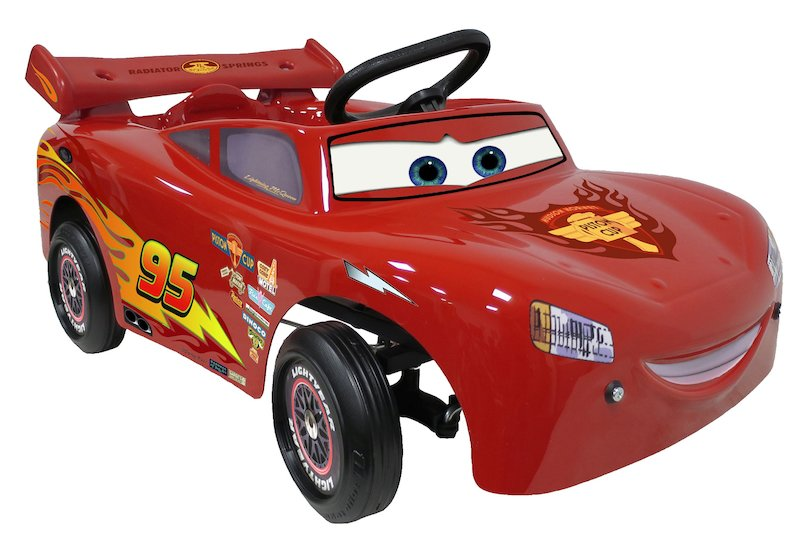 Disney Cars Chrome small baby pedal-car ride-on