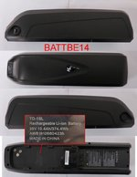 MP.BATTBE14 - 10,4Ah. BATTERY FOR ELECTRIC ASSISTED MTB BIKE E3000DT, E3100DT