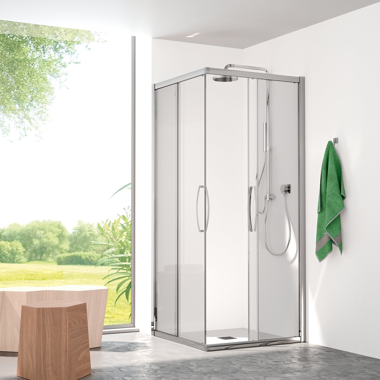 Sliding Shower Enclosure Angel