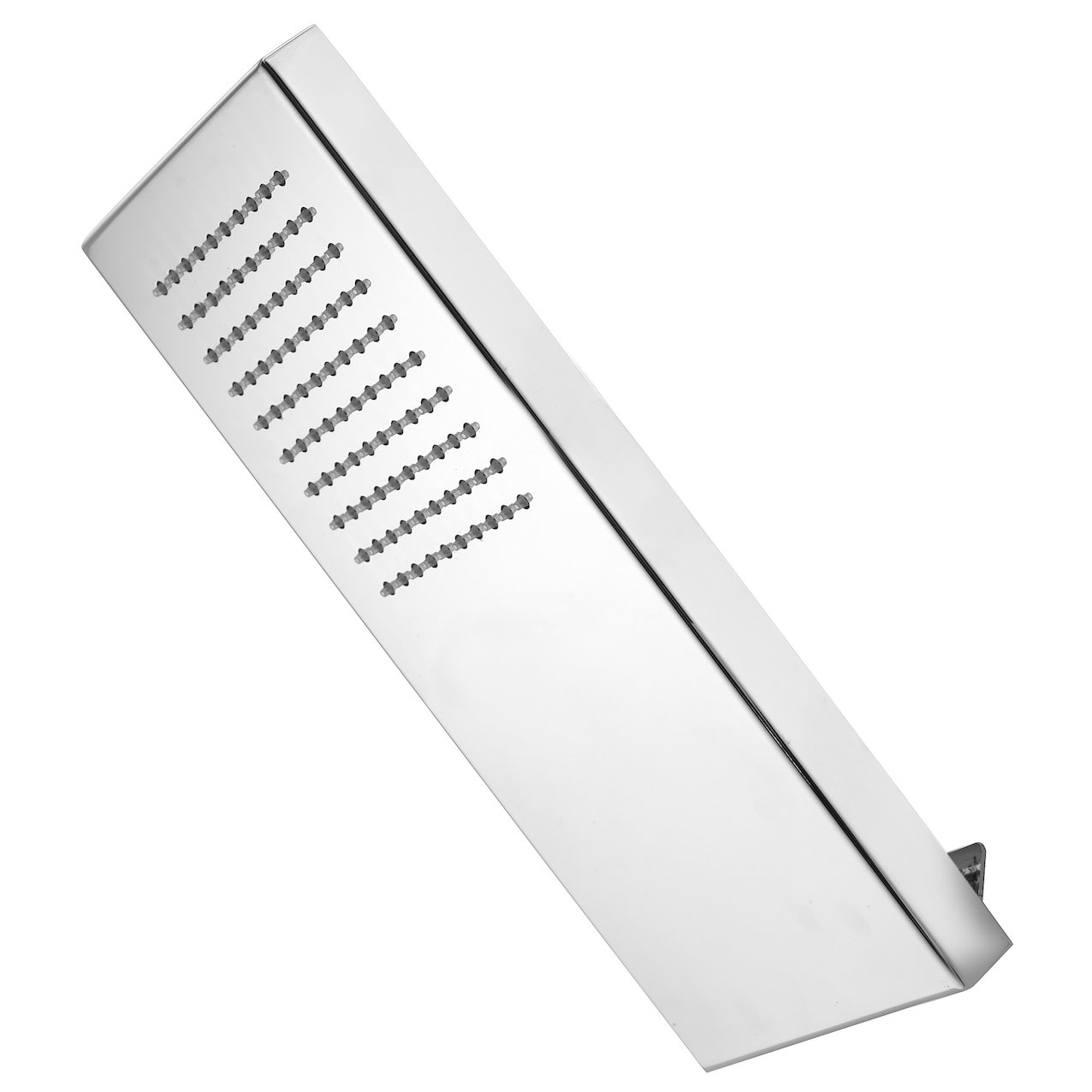 Wall inclined shower head with rain jet