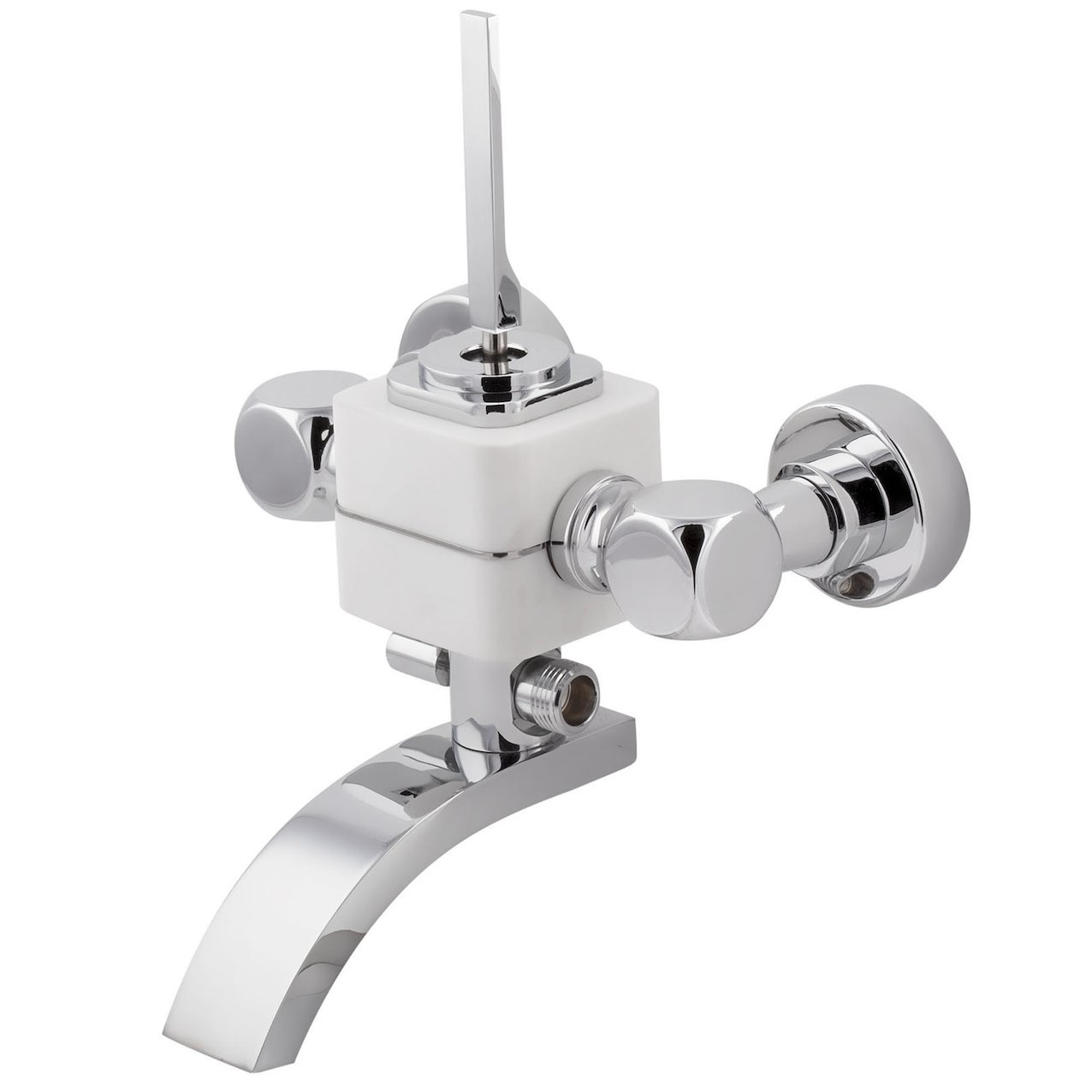 Bath-Shower Mixer Seve Glacier White