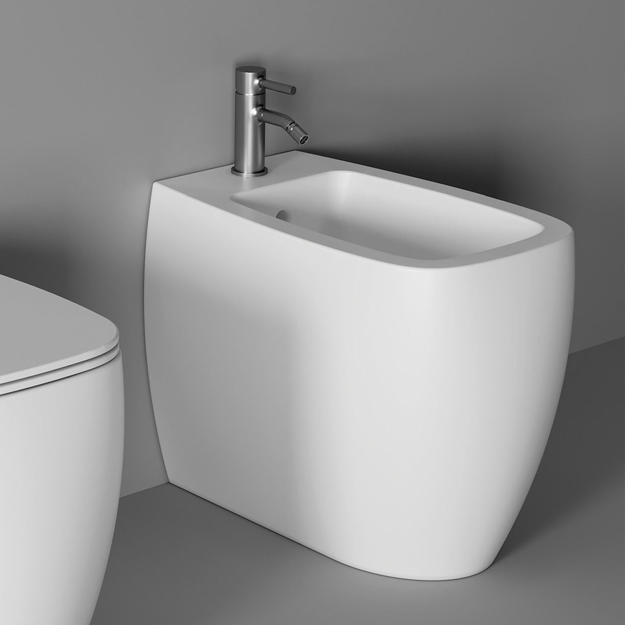 Bidet NUR back to wall - White