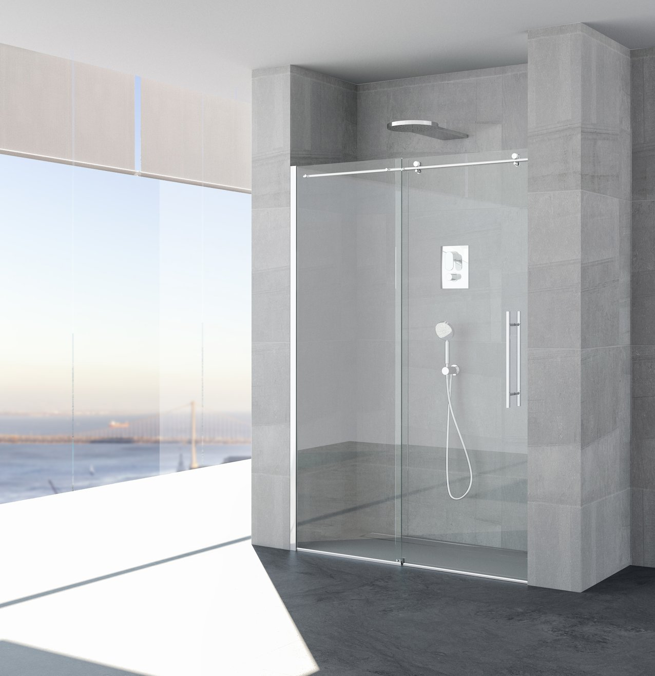 Inox Sliding Shower Enclosure Jog