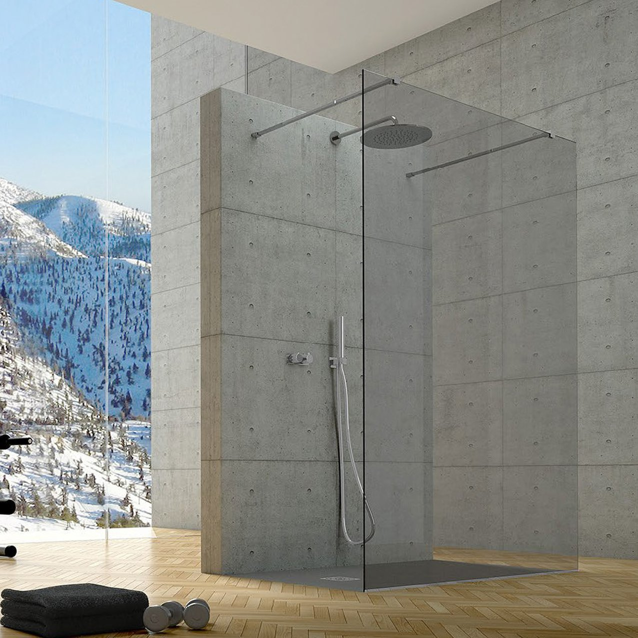 Kasai inox walk-in shower enclosure