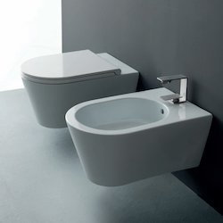 Set Sanitari Bagno.Set Hide Round Sospeso