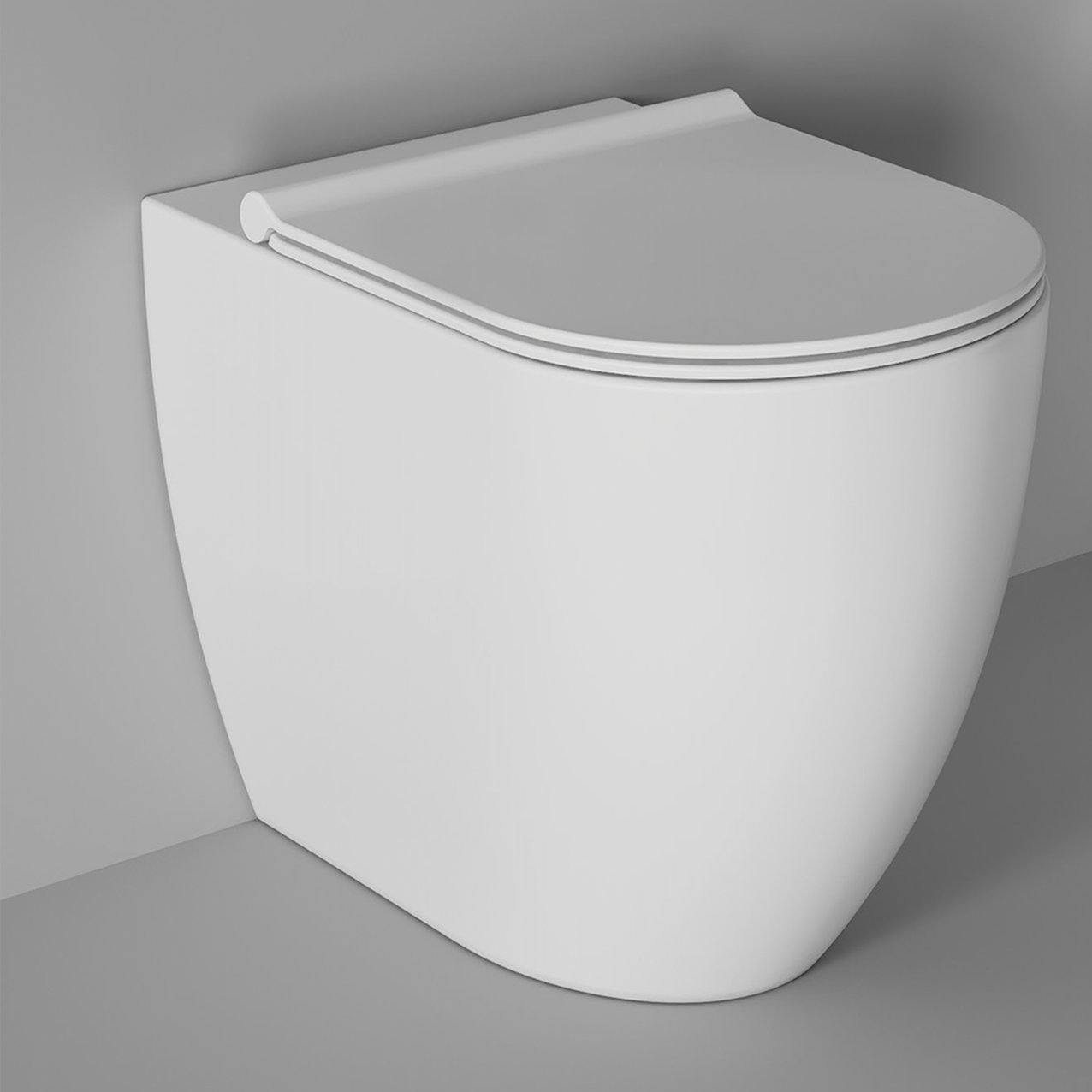 Adjustable WC Form back to wall - White