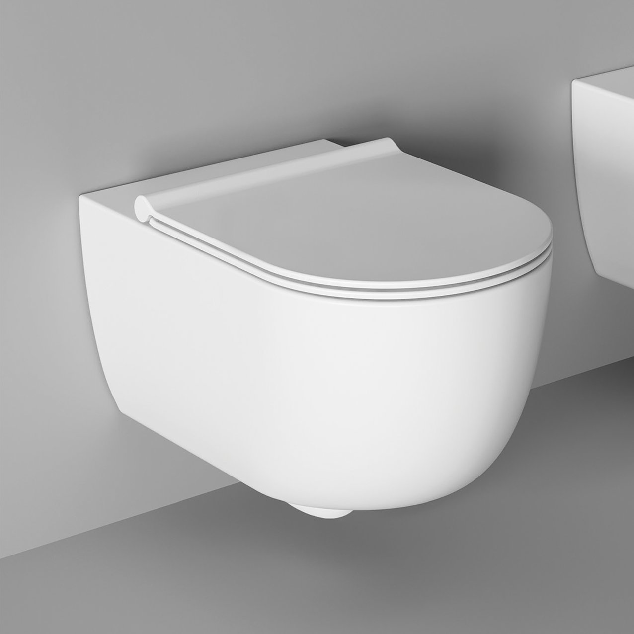 WC UNICA 50 wall hung - White