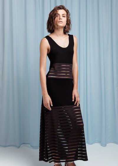 Dress with transparency - Black