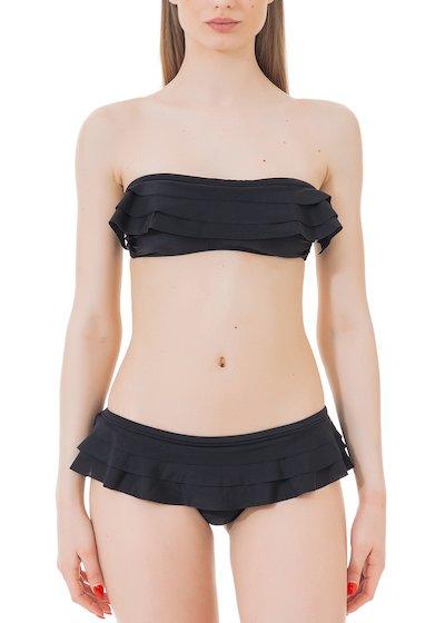 Bikini fascia e brasiliana con volant.