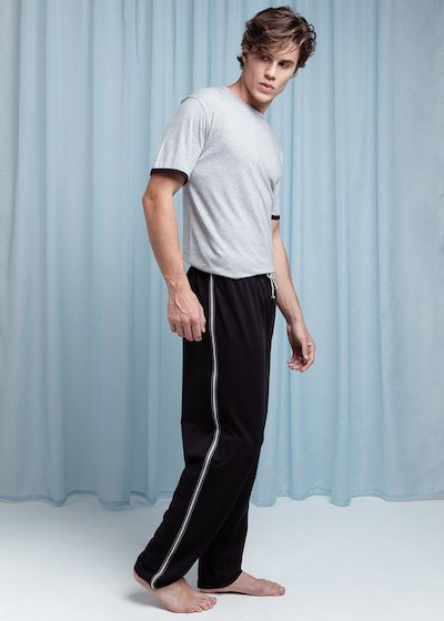 Cotton pyjamas with half sleeve T-shirt and long trousers